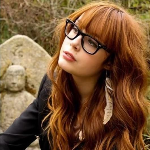 ჭ haircut, bangs, love her glasses