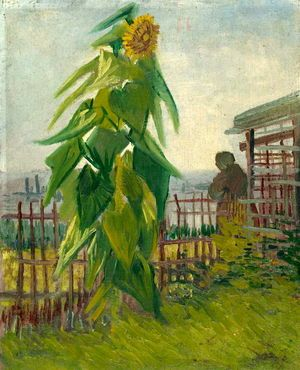 'Garden with Sunflower' - Vincent Vang Gogh.