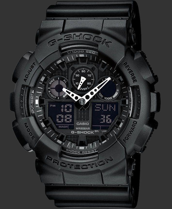 Watch Men's Casio G Shock GA 100 Series Military Camo 24 Month Premium Care   eBay
