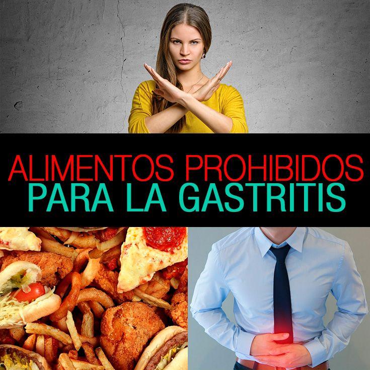 alimentos prohibidos en la gastritis alcalina