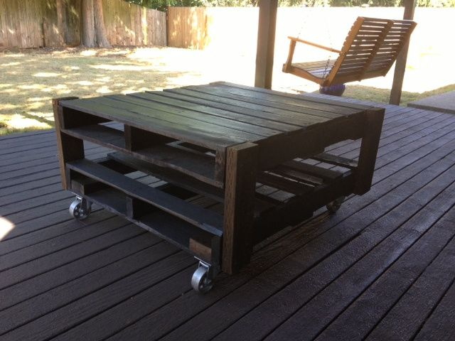 Outdoor Coffee Table - Pallet DIY http://jennifermaloof.wordpress.com