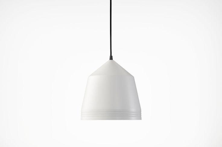Powdercoated Cooper pendant - Flat White
