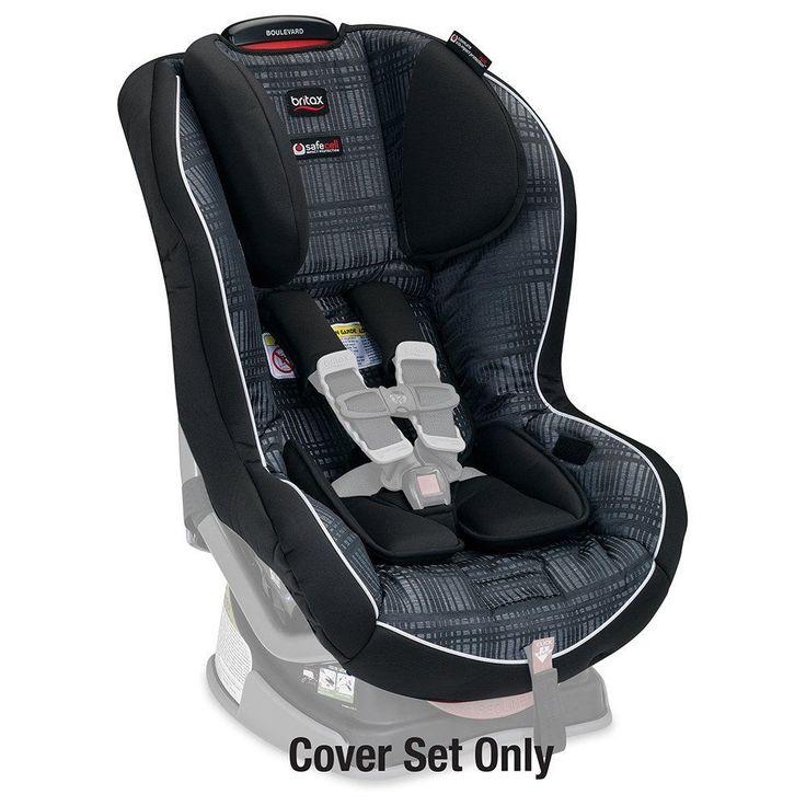 Britax Boulevard Convertible Car Seat Cover Set Domino Circa Forward Safety New