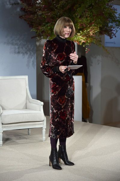 Anna Wintour Photos - Vogue EIC Anna Wintour speaks onstage during Vogue's Forces of Fashion Conference at Milk Studios on October 12, 2017 in New York City. - Vogue's Forces of Fashion Conference