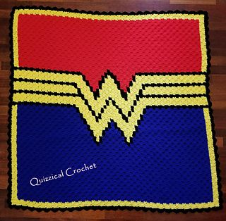 Wonder Woman C2c Blanket Pattern By Tracy Wesolek