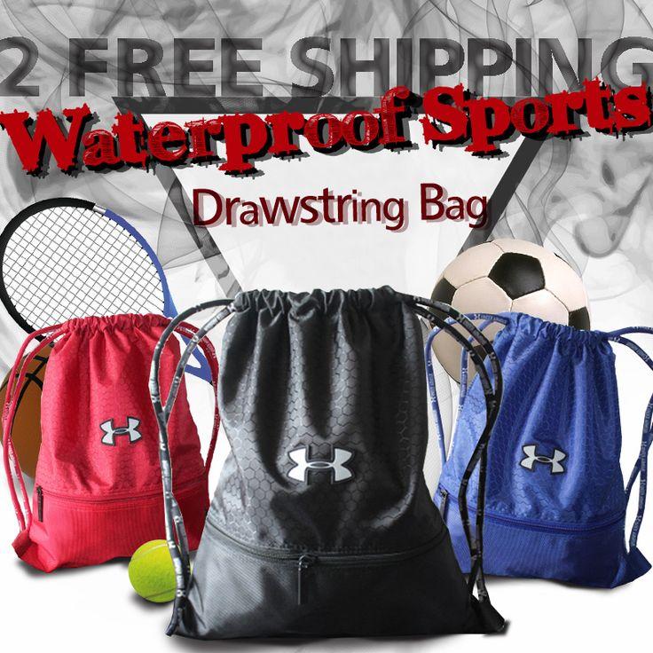 [S$7.99]2 Free Shipping UNDER ARMOUR Waterproof Drawstring Bag/Backpack/Sports Bag/Shoe Bag/Shoulder Bag Women Men Sports Hiking A4 Soccer Basketball Bags