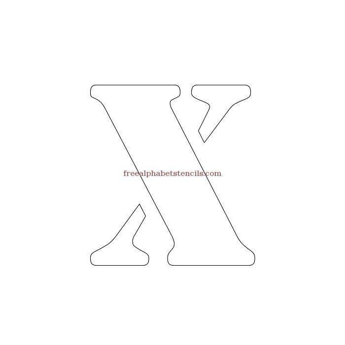 Uppercase Alphabet Stencil X