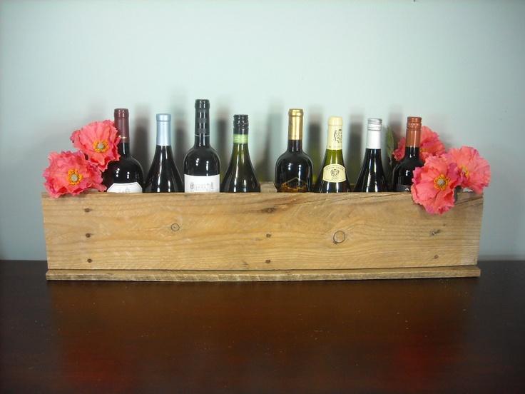 Pallet Wine Rack - Rustic Wine Box - Farm Table Wedding Wine Table Centerpiece. $38.00, via Etsy.