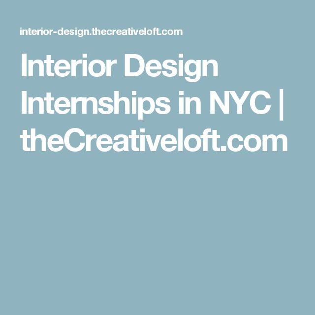 Interior Design Internships In NYC