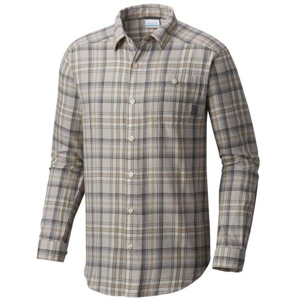 Columbia  Cornell Woods ™ Flannel Long Sleeve Shirt (370 MXN) ❤ liked on Polyvore featuring men's fashion, men's clothing, men's shirts, men's casual shirts, mens long sleeve button up shirts, mens longsleeve shirts, mens flannel shirts, mens button down shirts and mens long sleeve shirts