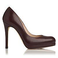 Sledge Calf Leather Platform Court