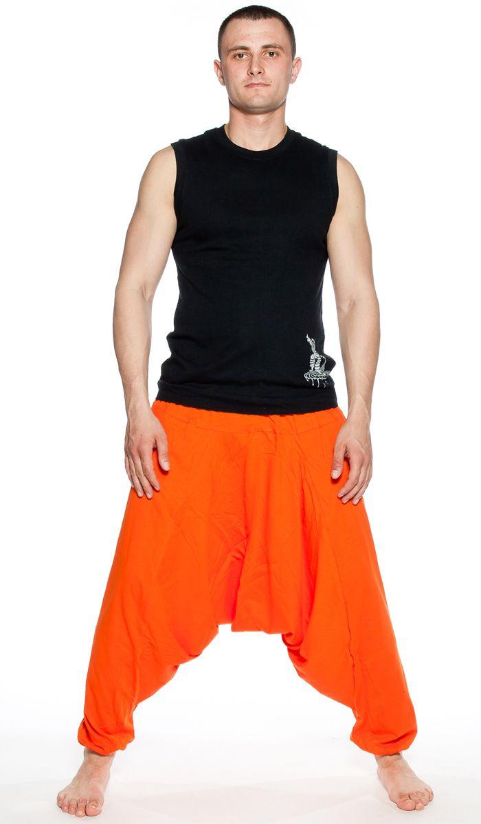 Зуавы, аладины, оранжевые шаровары, мужская индийская одежда, Индия, восток, одежда для йоги, мужские штаны для йги, yoga pants for man, Aladdin pants, trousers, men's Indian clothing, India. 1480 рублей