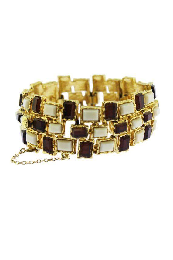 Boucher D Orlan Oro E Vetro Braccialetto Bracciale Oro Boucher D Orlan Boucher Bracciale In Oro Bracciale Vintage Bangles Vintage Bracelets Vintage Earrings