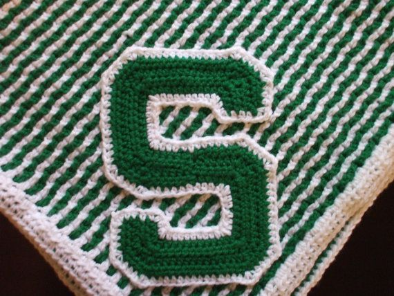 Michigan State Baby Blanket By Madebythebest On Etsy 55