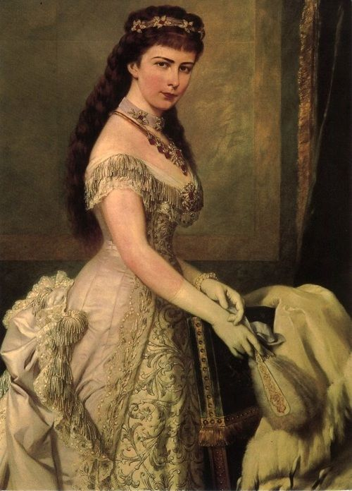 """Portrait of Elisabeth """"Sissi"""", Empress of Austria and Queen of Hungary, 1882."""