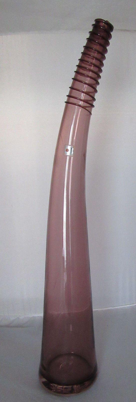 Best 25 tall floor vases ideas on pinterest large floral vintage amethyst blenko curved ribbed bottle neck floor vase 26 tall heavy reviewsmspy