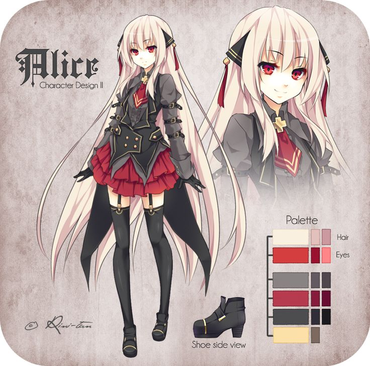 Anime Character Design Tips : Alice character design ii by rini tan viantart on