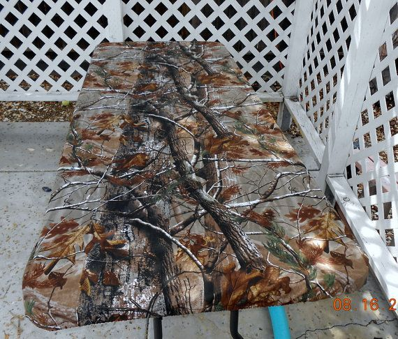 Custom Fitted Realtree Camo Canvas Tablecloth Stay Put