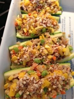 Ancient Grains Stuffed Zucchini