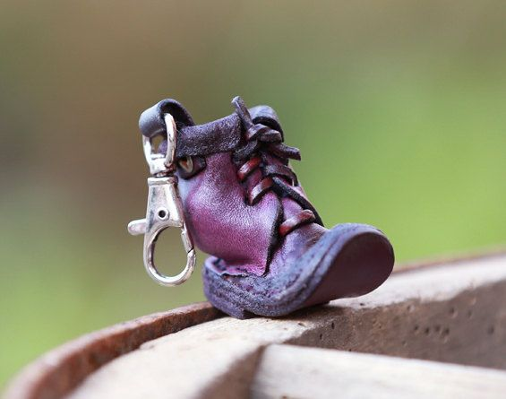 Custom leather keychain. For women. For men. Shoe keychain.  Birthday gift. Anniversary gift. For brother.  For sister.