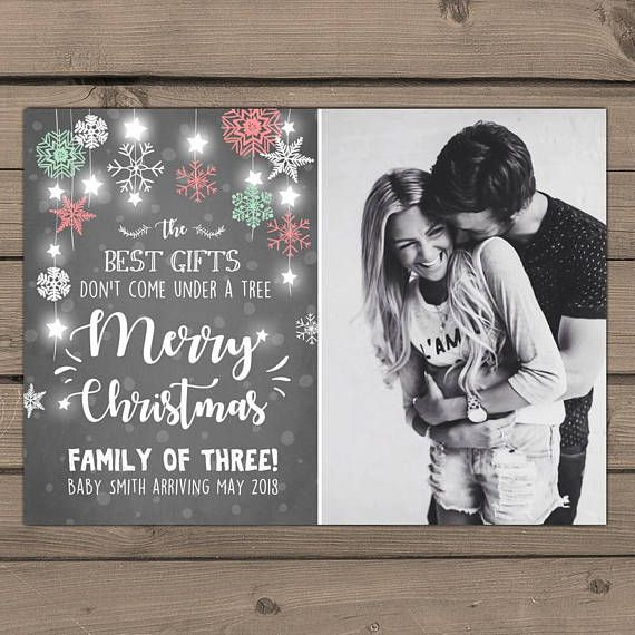 Christmas pregnancy announcement Christmas Baby Reveal card