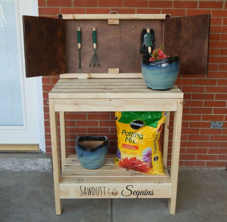 DIY Party Cart / Potting Bench | Hometalk