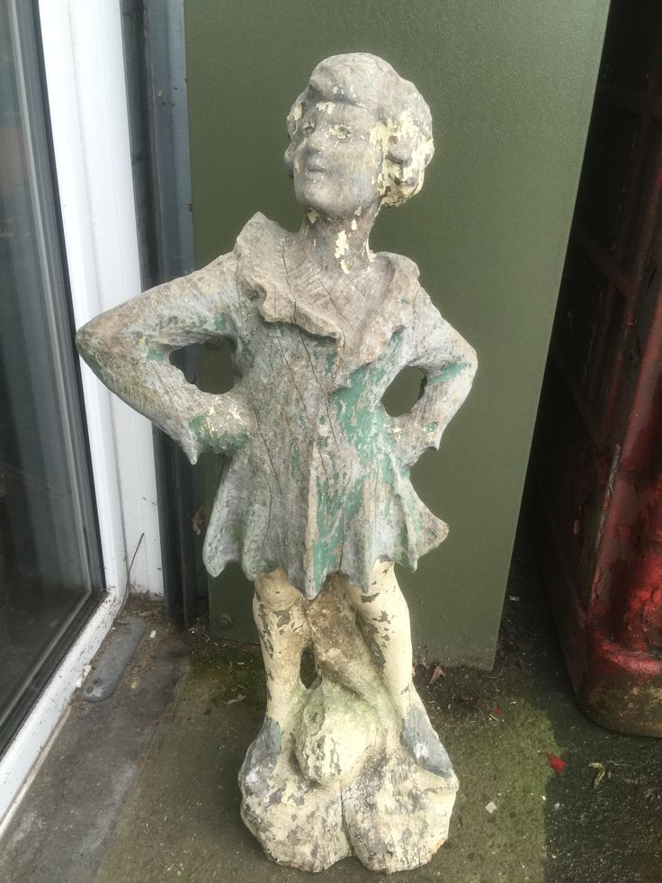 #shabby chic carved wooden figure