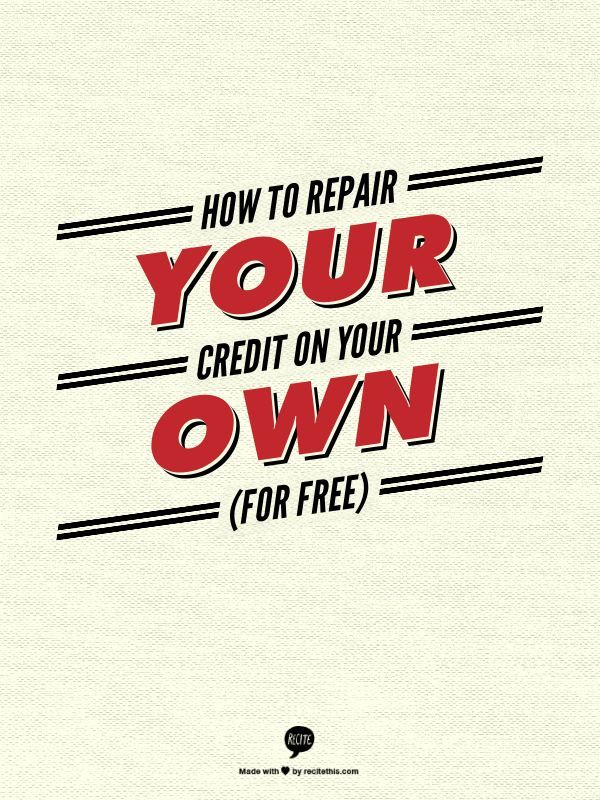 There is nothing a credit repair company can do for you that you cannot do for yourself for free. Here's how. Credit, Credit Scores, Credit Repair #credit #creditscore