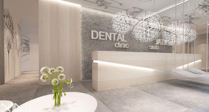 Dental Clinic - Interior Design : MADAMA .. Wnętrze dla Kliniki Stomatologicznej. Projekt wnętrza MADAMA