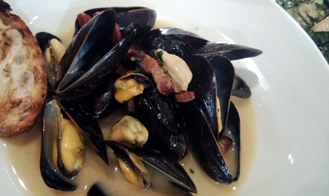 MC Kitchen in Miami, Florida (Prince Edward Island Mussels with Applewood Bacon)