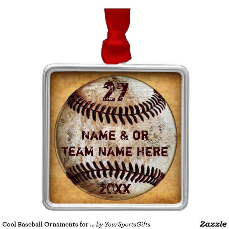 Super Cool Personalized Baseball Ornaments for Baseball Team Gifts, Baseball Christmas Gifts for Baseball Lovers and Gifts for Baseball Players. CLICK: https://www.zazzle.com/z/yp2bt?rf=238012603407381242 Personalized Vintage Baseball Christmas Ornaments with Your Text. Cool baseball gifts for baseball lovers, personalized baseball team gifts for baseball players, gifts for baseball coaches. More HERE:  http://www.zazzle.com/yoursportsgifts/gifts?cg=196287291800049169&rf=238012603407381242
