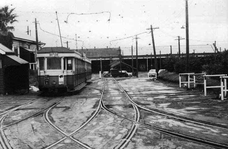 P cars. Dowling Street Depot. 1954