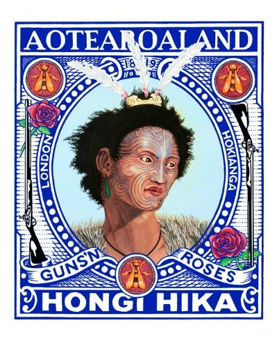 Portrait of Hongi Hika by Lester Hall for Sale at Prints.co.nz