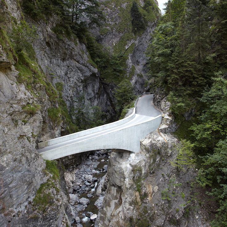 marte marte architekten arches schaufelschlucht bridge in austrian mountains