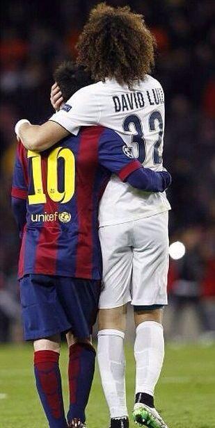 Messi and David Luiz