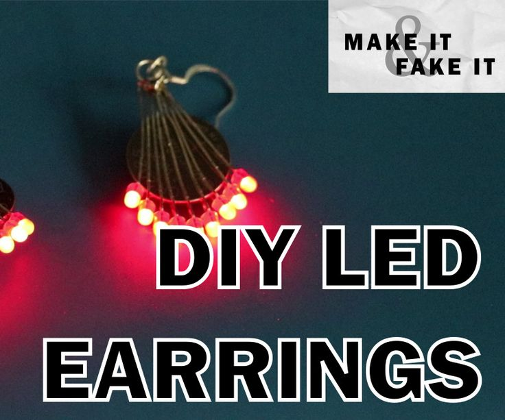 My goal was to create some light up earrings for my friend that would also look cool without a battery. With some basic soldering skill you too could have a pair ...