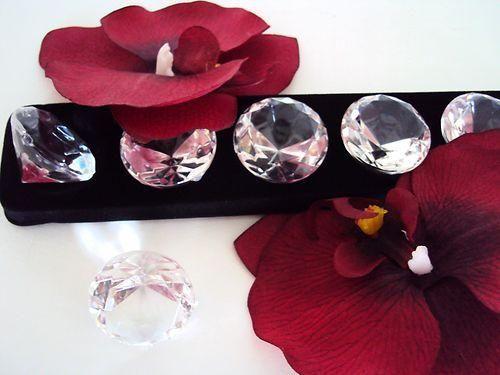 LOT de 6 gros DIAMANTS décoration de table