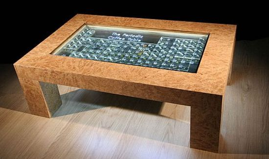 Periodic Table Coffee Table (with specimens)