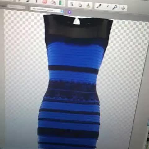 Bleue et noire ou blanche et doree la robe infernale