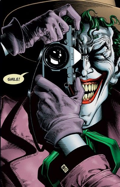 The Killing Joke. Brian Bolland - historietista de Gran Bretaña- y Alan Moore, escritor, y guionista de historietas.http://lordwanjavi.tumblr.com/post/115310350200/anthony-misiano-harley-s-joker-after-brian
