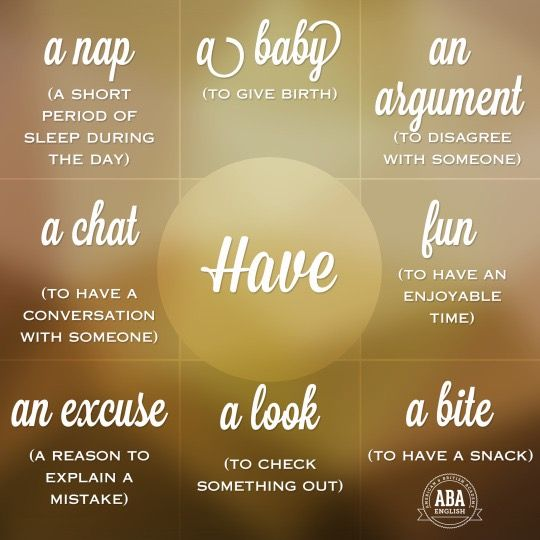Collocations with ' Have ' #LearnEnglish #EnglishVocabulary #phrasalverbs @English4Matura