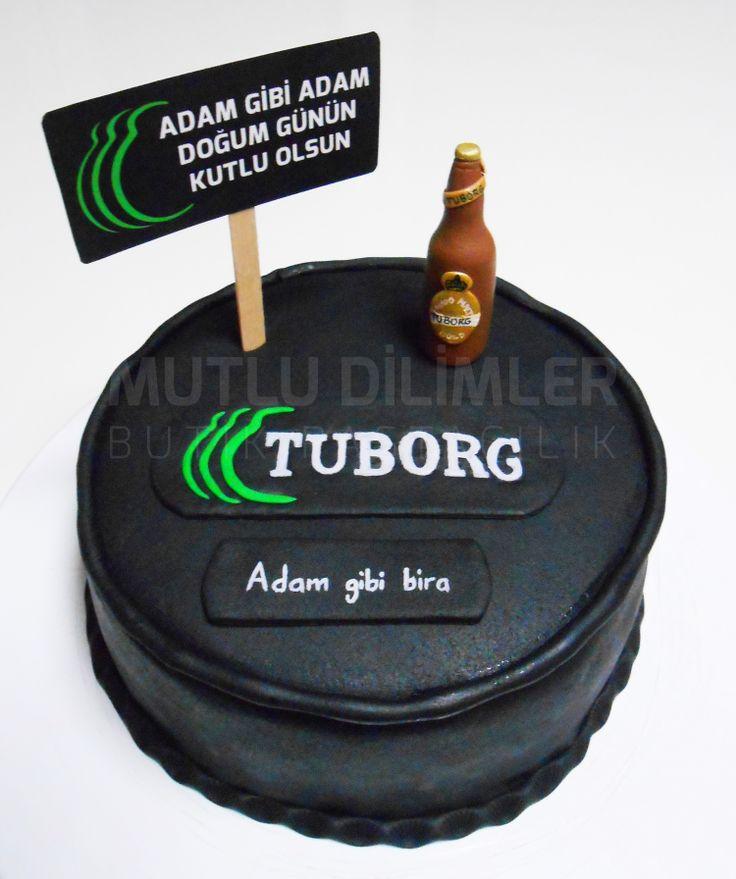 Adam gibi adama - Tuborg, Adam gibi pasta ;)  Tuborg pastası,  bira pastası, adam gibi pasta, siyah pasta Beer cake, black cake mutludilimler.blogspot.com https://www.facebook.com/mutludilimlerpastacilik http://instagram.com/mutludilimlerbutikpastacilik