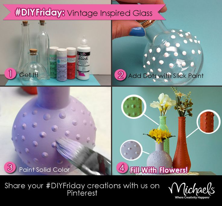 DIYFriday Vintage Inspired Glass Bottles
