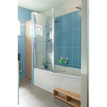 Baignoire L.160x l.85 cm, JACOB DELAFON Sofa bain et douche, vidage à gauche   Leroy Merlin