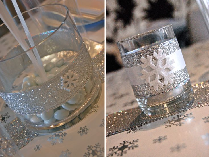 centerpieces for winter wonderland party | Winter Wonderland Themed Company Christmas Party on a $50 Budget ...