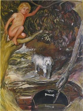 Una de las famosas obras del pintor Gabino Amaya Cacho en sus inicios
