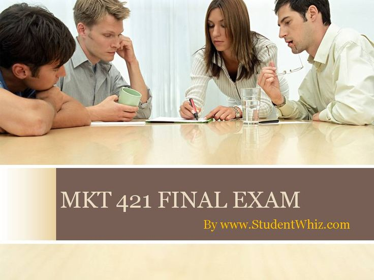 Introduction The MKT 421 final exam deals with the basic concepts of marketing and its functionality in the world of business. Marketing is embedded in everything we do—from the clothes we wear, to...