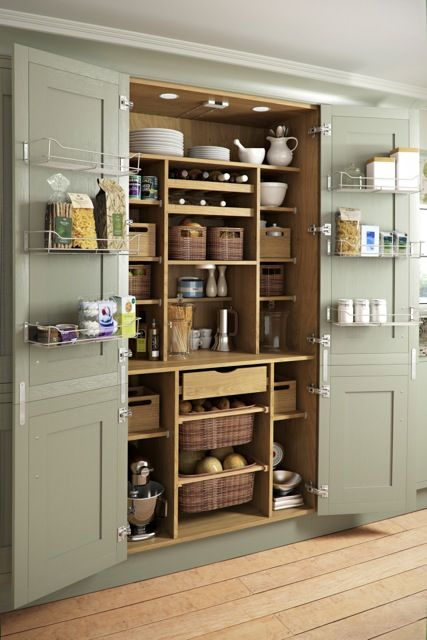 Open Larder Unit Cameo -like the baskets and idea of crockery don't use much on display at top