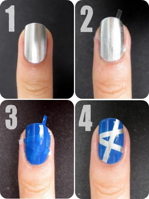 80 best images about easy nails on pinterest nail art - Simple nail polish designs at home ...