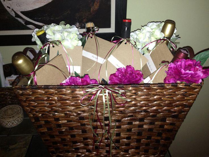 Wedding Gift Basket Of Firsts : Basket of firsts wine basket for bridal shower